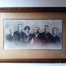 Fotografía antigua: COMPOSICIÓN FOTOGRÁFICA ORIGINAL DE ANTONI ESPLUGUES I PUIG DE PERSONAJES COMO ISAAC ALBÉNIZ. Lote 269271023