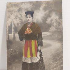 Fotografía antigua: FOTOGRAFÍA DE ESTUDIO B. GISPERT CALDAS DE MONTBUI. PINTADA PATRIOTICA. Lote 269358283