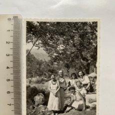 Fotografía antigua: FOTO. EXCURSIÓN LA BARRACA. CARCAGENTE. VALENCIA. FOTÓGRAFO?. FECHA, 29 JUNIO 1956.. Lote 269460678