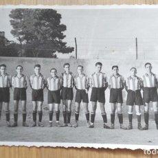 Fotografia antica: EQUIPO DE FUTBOL JUVENIL DEL COLEGIO BONANOVA. Lote 270521393