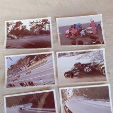 Fotografia antiga: AUTOMOVILISMO 19 FOTOGRAFIAS ORIGINALES CIRCUITO MONTJUIC F1. Lote 273721368