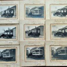 Fotografía antigua: JÁTIVA AÑO 1931 - 9 FOTOGRAFÍAS COCHES FÚNEBRES SERVICIO MUNICIPALIZADO DE CONDUCCIÓN DE CADÁVERES. Lote 273980463