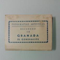 Fotografía antigua: ALBUM DE 10 FOTOGRAFIAS ARTISTICAS RECUERDO DE GRANADA-EL GENERALIFE - EDICIONES SICILIA. Lote 276202488