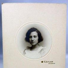 Fotografía antigua: FOTOGRAFÍA RETRATO CHICA TONDO KAULAK MADRID DEDICADA 1920. Lote 276525318