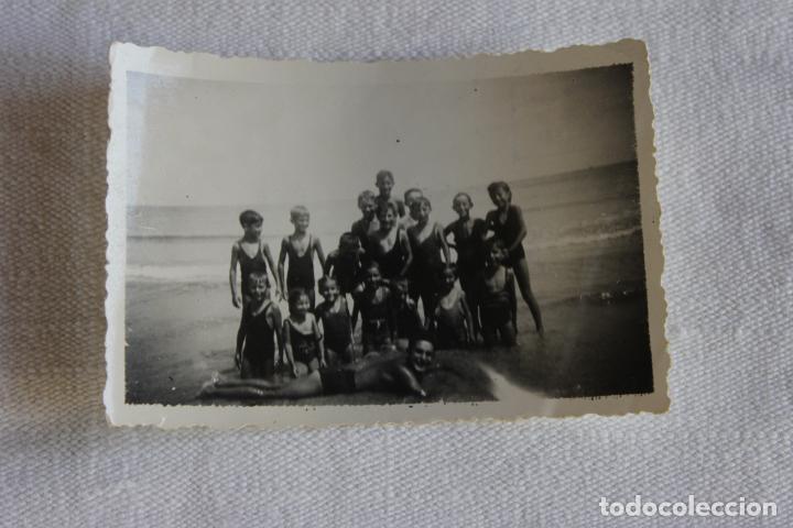 FOTOGRAFIA GRUPO JOVENES BAÑISTAS, 1941 CARTAGENA, LABORATORIOS CASAÚ (Fotografía - Artística)