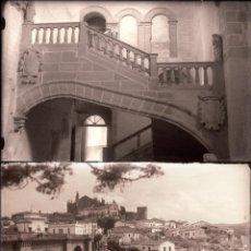 Fotografia antica: PLASENCIA.CACERES.EXTREMADURA.14 NEGATIVOS FOTOGRAFICOS CRISTAL.9,5X14CM. AÑOS 60. Lote 277117668