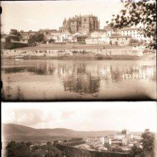 Fotografia antica: PLASENCIA.CACERES.EXTREMADURA.16 NEGATIVOS FOTOGRAFICOS CRISTAL.9,5X14CM. AÑOS 60. Lote 277118593