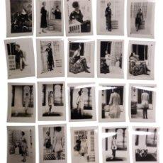 Fotografía antigua: 19 FOTOGRAFÍAS ERÓTICAS '60S DE MUJER POSANDO VESTIDA, CON LENCERÍA Y DESNUDA EN ESPACIO MODERNISTA.. Lote 277199708