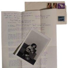 Fotografía antigua: CARTA DE 1967 CON DETALLES PRIVADOS DE UN TRANSEXUAL AMERICANO CON UNA FOTOGRAFÍA DE ÉL MISMO.. Lote 277200443