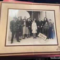 Fotografía antigua: FOTOGRAFIA GRUPO FAMILIAR - TAMPON PARTE POSTERIOR FOTO MATEO C. ARIBAU 84 - 4 ENERO 1936 84 -. Lote 277477968