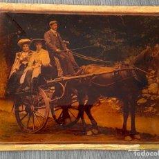 Fotografía antigua: FOTOGRAFIA INGLESA PINTADA AL REVERSO AL ÓLEO , 1900 APROX.. Lote 277560283