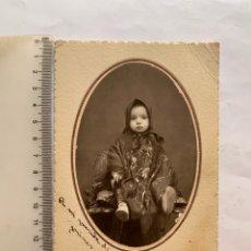 Fotografía antigua: FOTO OVAL. MARUJIN CON MANTÓN DE MANILA. E. GRANDE, FOTOGRAFO. MADRID. FECHA, 11 MARZO 1933.. Lote 278701363