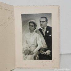 Fotografía antigua: FOTOGRAFIA - M. DUARTE - BARCELONA - PAREJA DE NOVIOS - AÑO 1949 - 18,5 X 13 CM / 59. Lote 279403213