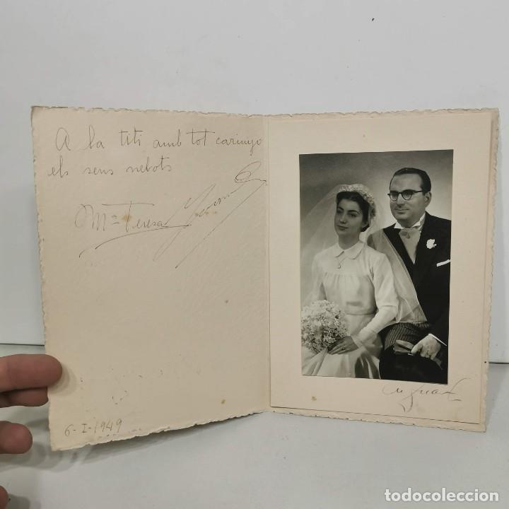 Fotografía antigua: FOTOGRAFIA - M. DUARTE - BARCELONA - PAREJA DE NOVIOS - AÑO 1949 - 18,5 X 13 CM / 59 - Foto 2 - 279403213