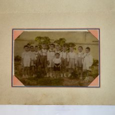 Fotografía antigua: FOTO. RECUERDO ESCOLAR. CURSO 1945-46. FOTÓGRAFO?. MUNICIPIO?.. Lote 279593253