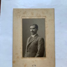 Fotografía antigua: FOTO. RETRATO DE MARIANO T. T. JOVEN CON BIGOTE. ART-STUDIO G. FREUDENTHAL. ZARAGOZA.. Lote 279699758