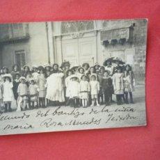 Fotografía antigua: F. LLINAS.-FOTOGRAFO.-MARIA ROSA MERCEDES TEIXIDOR.-RECUERDO DEL BAUTIZO.-FOTOGRAFIA ANTIGUA.-GERONA. Lote 281824498