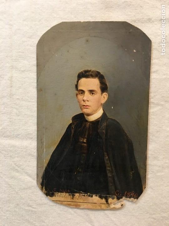 LOTE DE 2 FOTOGRAFÍAS ANTIGUAS PINTADAS A MANO ÉPOCA. HABANA, 1876 Y 1890. UNA ESCRITA. RARAS. (Fotografía - Artística)