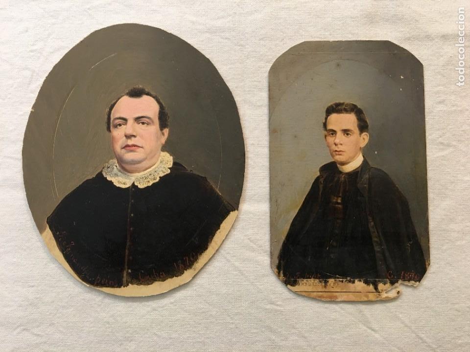 Fotografía antigua: Lote de 2 fotografías antiguas pintadas a mano época. Habana, 1876 y 1890. Una escrita. Raras. - Foto 3 - 44401366