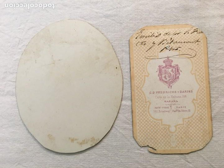 Fotografía antigua: Lote de 2 fotografías antiguas pintadas a mano época. Habana, 1876 y 1890. Una escrita. Raras. - Foto 4 - 44401366