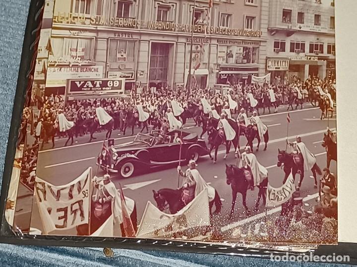 Fotografía antigua: Antiguo INEDITO álbum 12 fotos franco y reyes desfile en madrid - Foto 6 - 287068268