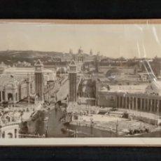Fotografía antigua: FOTOGRAFÍA PANORAMICA. BARCELONA EXPOSICIÓN / PLAZA ESPAÑA AÑOS 20' GRAN FORMATO. Lote 288911313
