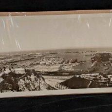 Fotografía antigua: FOTOGRAFÍA PANORAMICA. PUERTO BARCELONA, GRAN FORMATO 102CM X 25CM, AÑOS 20'. Lote 288912498