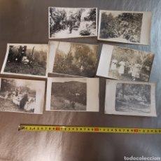 Fotografía antigua: 8 FOTOGRAFÍAS DE UN BOSQUE Y UNA NEVADA 1920S. PROBABLEMENTE LES PLANES, CATALUNYA. Lote 288966473