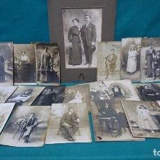 Fotografía antigua: LOTE DE FOTOGRAFÍA ANTIGUA, PRICIPIOS DE 1900. Lote 289927673