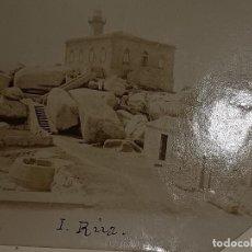 Fotografia antiga: FARO ILLA REAL ANTIGUA FOTOGRAFÍA DEL SIGLO XIX. Lote 293285413