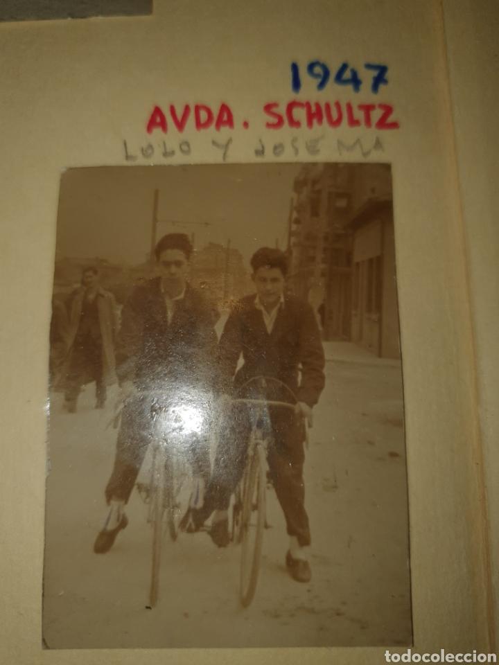 FOTOGRAFÍA AVDA SCHULTZ GIJON ASTURIAS 1947 CICLISTA (Fotografía - Artística)