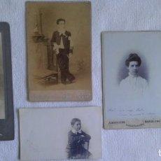 Fotografía antigua: CINCO RETRATOS FOTÓGRAFOS BARCELONA CA 1885-1905: A. KERN - R. LOPEZ - I. BUSQUELS - J. MARINÉ. Lote 16497152