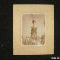 Fotografía antigua: MONTSERRAT-MONUMENTO DE LOS HEROES DEL BRUCH-FOTOGRAFIA ANTIGUA-VER FOTOS-(K-4441). Lote 295507993