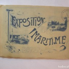 Fotografía antigua: BORDEAUX-EXPOSITION MARITIME 1907-ALBUM DE FOTOGRAFIAS-VER FOTOS-(K-4436). Lote 295513378