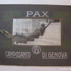 Fotografía antigua: PAX CAMPOSANTO DI GENOA-ALBUM CON FOTOGRAFIAS-VER FOTOS-(V-22.970). Lote 295517803
