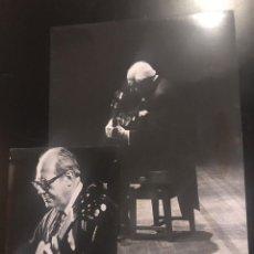Fotografia antiga: 2 FOTOGRAFÍAS , ANDRES SEGOVIA TORRES , I MARQUÉS DE SALOBREÑA GUITARRISTA. Lote 295539683