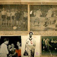 Coleccionismo deportivo: FOTO DE INTERCAMBIO DE BANDERINES ENTRE LOS CAPITANEZ MUÑOZ Y MANOLITO,1952. Lote 22671175