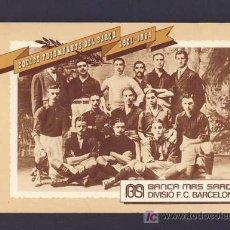 Coleccionismo deportivo: BLOC CON 15 FOTOS DE PLANTILLAS DEL FUTBOL CLUB BARCELONA BARÇA (ED.POR BANCA MAS SARDA) (VER FOTOS). Lote 5645928