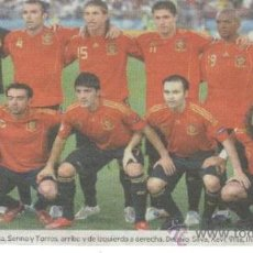 Coleccionismo deportivo: FOTO FUTBOL ESPAÑA CAMPEONA EUROCOPA 2008 RECORTE DE PRENSA. Lote 10602719