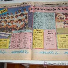 Coleccionismo deportivo: SELECCIÓN DE FÚTBOL DE URUGUAY : REPORTAJE PREVIA MUNDIAL MEXICO 86. Lote 11751967