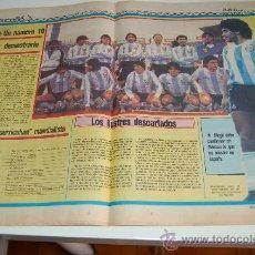 Coleccionismo deportivo: SELECCIÓN DE FÚTBOL DE ARGENTINA : REPORTAJE PREVIA MUNDIAL MEXICO 86. Lote 11751982