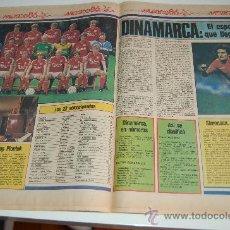 Coleccionismo deportivo: SELECCIÓN DE FÚTBOL DE DINAMARCA ( CON MICHAEL LAUDRUP ) : REPORTAJE PREVIA MUNDIAL MEXICO 86. Lote 11752033