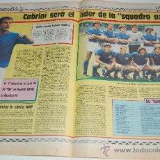 Coleccionismo deportivo: SELECCIÓN DE FÚTBOL DE ITALIA : PREVIA MUNDIAL DE MEXICO 86. Lote 11752173