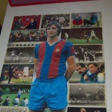 Coleccionismo deportivo: JOHAN CRUYFF : ESPECIE DE PUZZLE FORMADO POR VARIAS FOTOS SUYAS. HACIA 1996. Lote 13981063