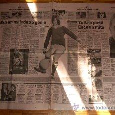 Coleccionismo deportivo: GEORGE BEST: GRAN REPORTAJE GRÁFICO CON MOTIVO DE SU MUERTE ( 26 DE NOVIEMBRE DE 2005 ). Lote 19452830