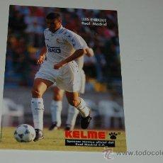 Coleccionismo deportivo: REAL MADRID: FOTO DE LUIS ENRIQUE. 1994. Lote 18042587