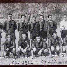 Collectionnisme sportif: ANTIGUA FOTOGRAFIA ORIGINAL DEL SANTOÑA CLUB DE FUTBOL (CANTABRIA) DE LA TEMPORADA 1966, ESCRITO EL . Lote 20232619