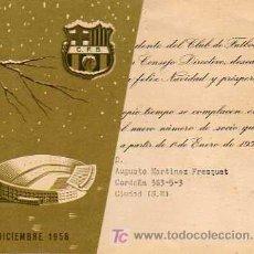 Coleccionismo deportivo: INTERESANTE FELICITACION DE NAVIDAD DEL FUTBOL CLUB BARCELONA -BARÇA 1959. Lote 20564385