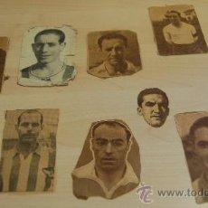 Coleccionismo deportivo: 10 RECORTES DE PERIODICO CON LAS CARAS DE FUTBOLISTAS DE LOS AÑOS 40. Lote 60924731