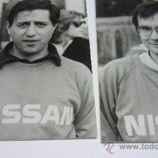Coleccionismo deportivo: LOTE 2 FOTOS ORIGINALES. PILOTOS RALLYE NISSAN ESPAÑOLES. MARIANO LACASA Y MIGUEL PRIETO. AÑOS 80. Lote 23441338